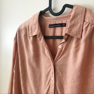 A&F Pink Blouse